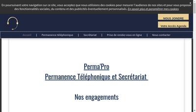 Site internet de Perma'Pro