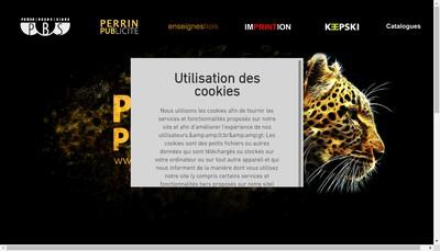 Site internet de Perrin Publicite