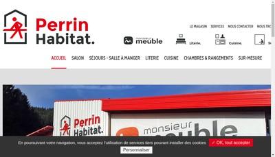 Site internet de Meubles Perrin Societe