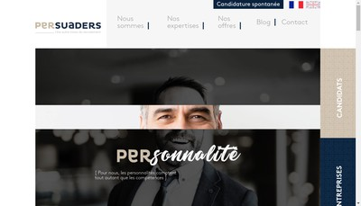 Site internet de Persuaders Rh
