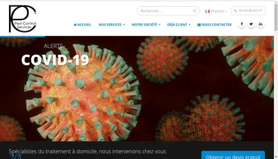 Site internet de Pest Control Services