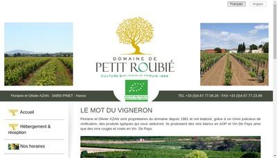 Site internet de Petit Roubie