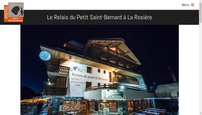 Site internet de Hotel Relais du Petit Saint Bernard