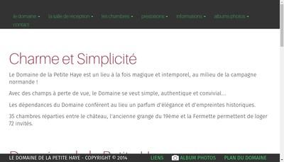 Site internet de Le Domaine de la Petite Haye