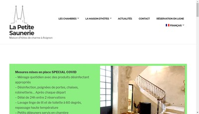 Site internet de SARL la Petite Saunerie