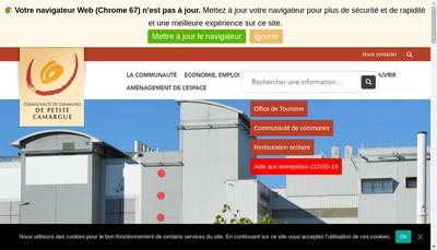Site internet de La Petite Camargue