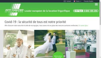 Site internet de Petit Forestier Container