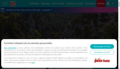 Site internet de Petit Fute Com