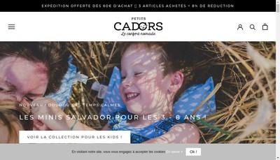Site internet de Petits Cadors