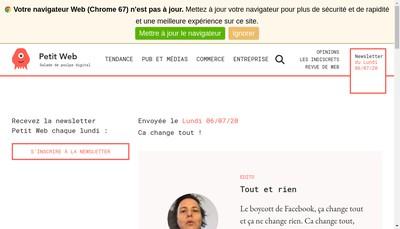 Site internet de Petitweb