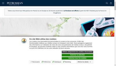Site internet de Petrossian Courcelles