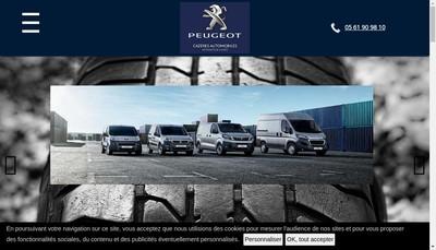 Site internet de Cazeres Automobiles