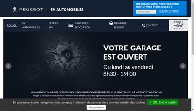 Site internet de Ev Automobiles