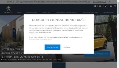 Site internet de Peugeot Oullins
