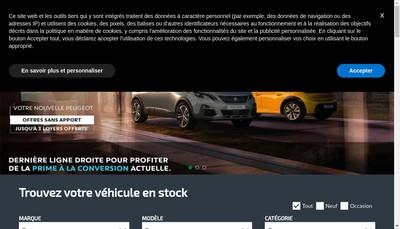 Site internet de Courtois Automobiles la Richardais