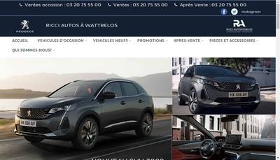 Site internet de SARL Ricci Autos