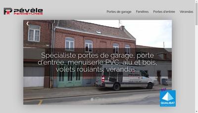 Site internet de Pevele Fermetures
