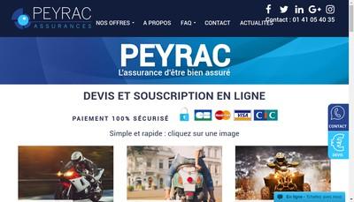 Site internet de Peyrac Patrimoine