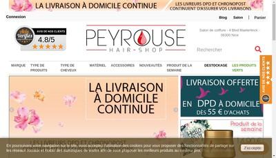 Site internet de Peyrouse Hair Shop