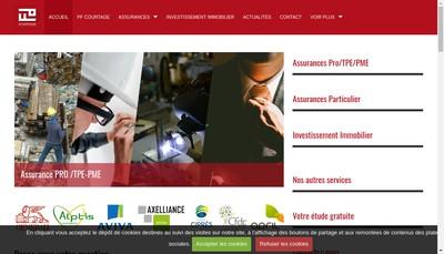 Site internet de Pf Courtage