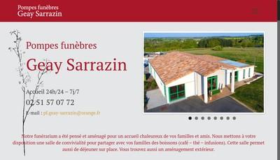 Site internet de Geay-Sarrazin Funeraire