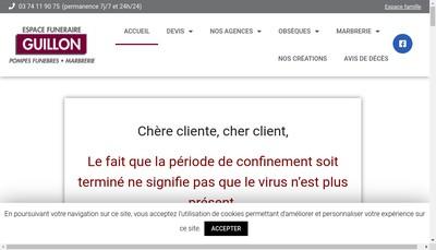Site internet de Espace Funeraire Guillon