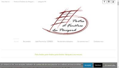 Site internet de Portes et Fenetres du Perigord