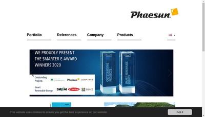 Site internet de Phaesun France