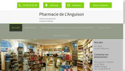 Site internet de Pharmacie de l'Anguison