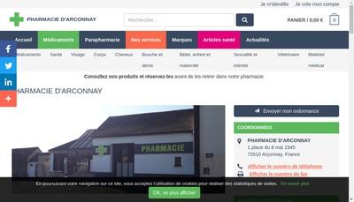 Site internet de Pharmacie d'Arconnay