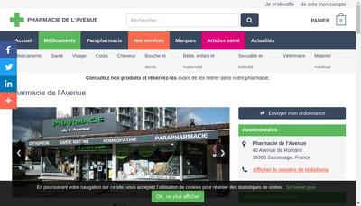 Site internet de Pharmacie de l'Avenue