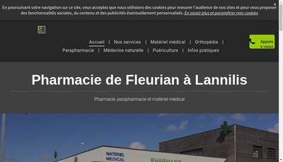 Site internet de SELARL Pharmacie de Flevrian