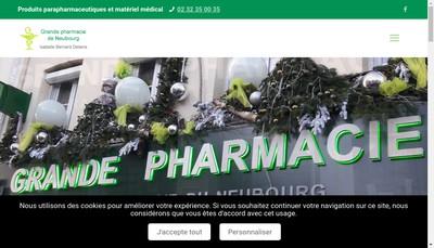 Site internet de Grande Pharmacie du Neubourg I Deliens