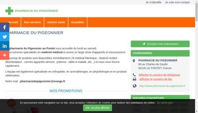 Site internet de Pharmacie Reboul Icard