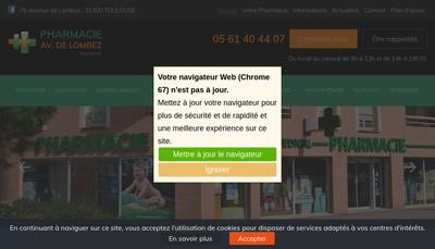 Site internet de Pharmacie de l'Avenue de Lombez