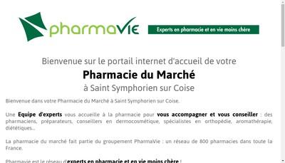 Site internet de Pharmacie du Marche