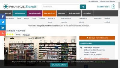 Site internet de Pharmacie Nouvelle