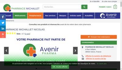 Site internet de Pharmacie Michallet