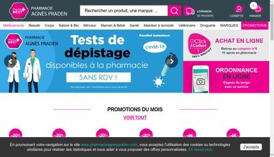 Site internet de Pharmacie Agnes Praden