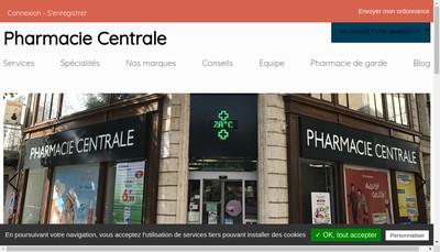 Site internet de Pharmacie Centrale