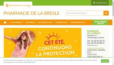 Site internet de Pharmacie de la Bresle