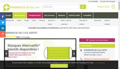 Site internet de SELARL de l'Ile Verte