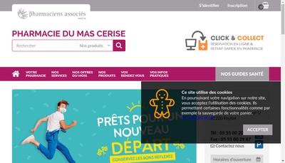 Site internet de Pharmacie du Mas Cerise