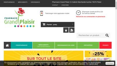 Site internet de Pharmacie Grand Plaisir