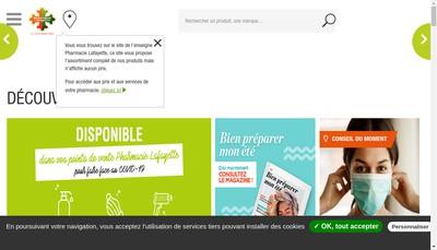 Site internet de Pharmacie Lafayette du Grand Sud Ouest