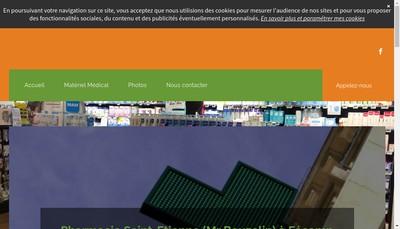 Site internet de SELARL Pharmacie Saint Etienne