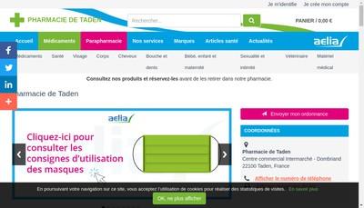 Site internet de Pharmacie de Taden
