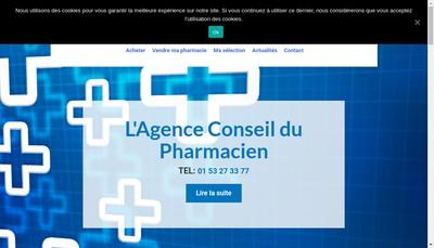 Site internet de Pharmagence