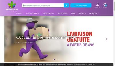 Site internet de Pharmacie Gervais