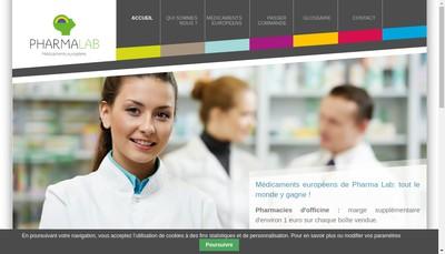Site internet de Pharma Lab